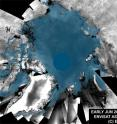 This animation is comprised of Envisat ASAR mosaics of the Arctic Ocean and highlights the changes in sea ice between June and mid-August 2008. The dark grey color represents ice-free areas while blue represents areas covered with sea ice.
