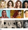 """These examples show a single input photo (left) and Dreambit's automatically synthesized appearances of the input photo with """"curly hair"""" (top row), in """"India"""" (2nd row), and in """"1930"""" (3rd row)."""
