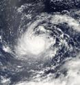On Aug. 25 at 12:40 a.m. EDT (04:40 UTC) the MODIS instrument aboard NASA's Aqua satellite reveals the eye of Typhoon Lionrock off Japan.