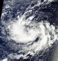 NASA's Terra satellite captured this visible image of Tropical Depression 16W on Sept. 8, 2016.
